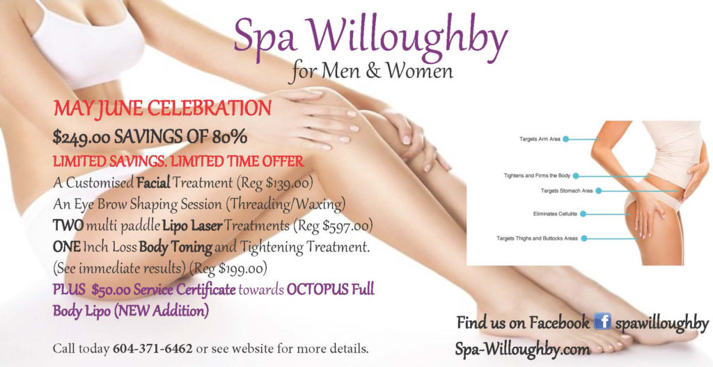 Spa Willoughby May/June Spa Special